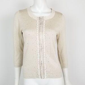 NWT WHBM Shimmer Cardigan Sweater Sz Medium